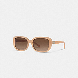 SIGNATURE RECTANGLE SUNGLASSES - MILKY BEIGE - COACH L1142