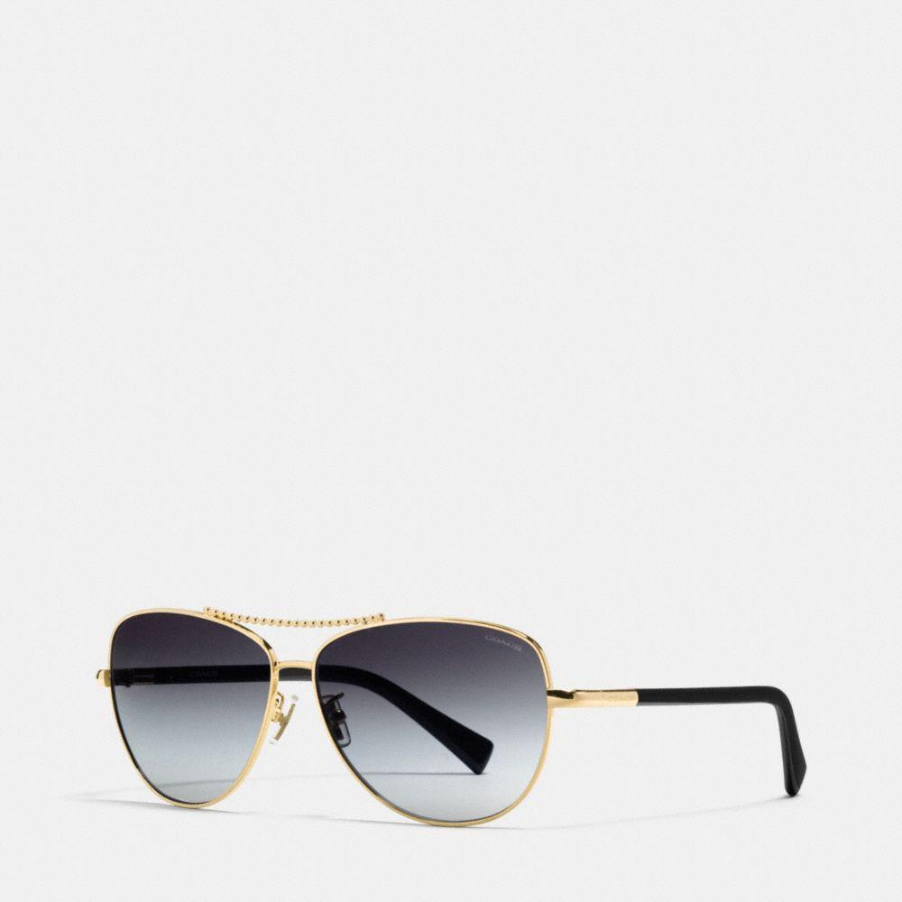 Coach Beadchain Pilot Sunglasses