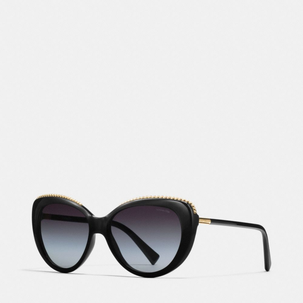 BEADCHAIN CAT EYE SUNGLASSES