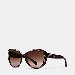 COACH SIGNATURE SPRAY CAT EYE SUNGLASSES - DARK TORTOISE - L147