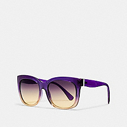 RAINBOW SQUARE SUNGLASSES - PURPLE YLW CRYS GRAD - COACH L157
