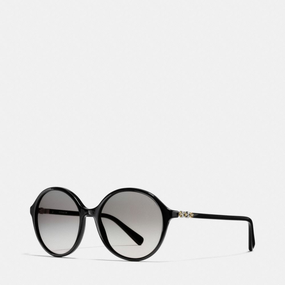 Coach Daisy Rivet Round Sunglasses