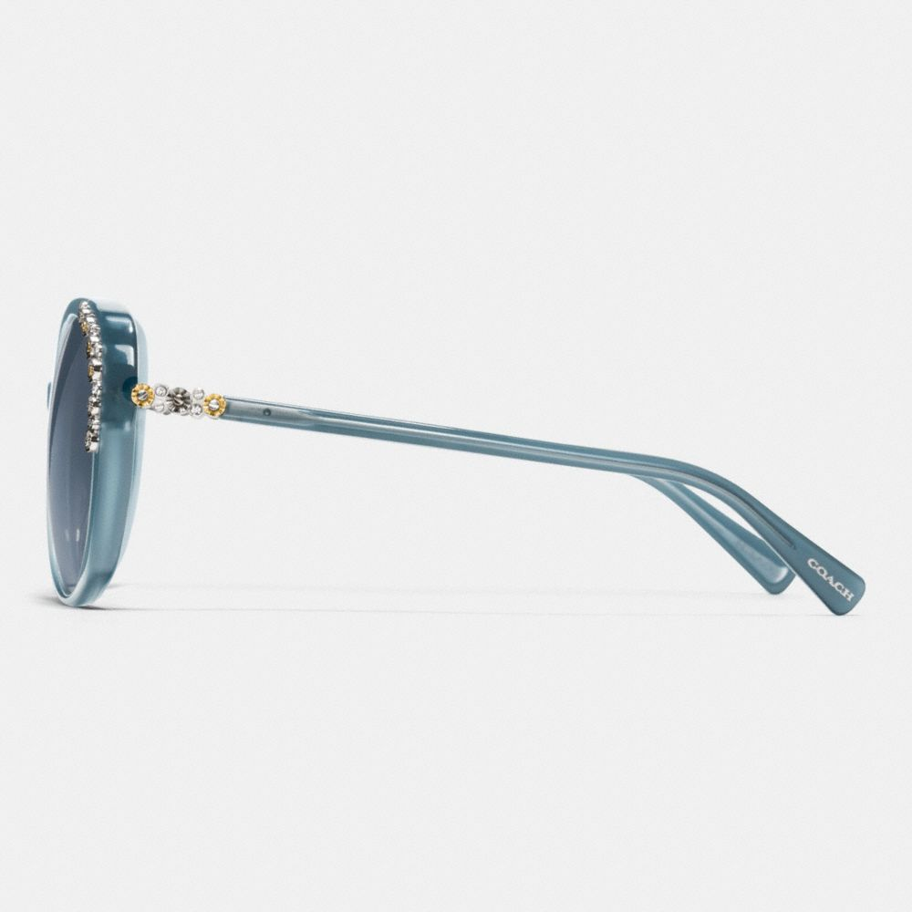 Daisy Rivet Cat Eye Sunglasses - Alternate View L2
