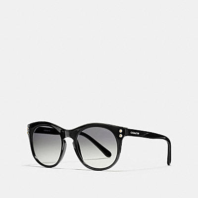 COACH NEW YORK 圓框太陽眼鏡