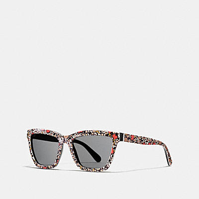 YANKEE FLORAL RECTANGLE SUNGLASSES