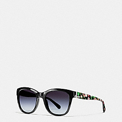 COACH EVERGREEN SUNGLASSES - BLACK/PINK MOUNTAIN - L1638