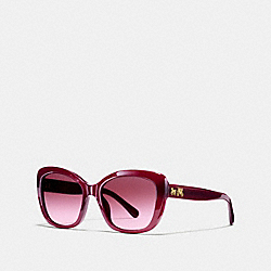 COACH HORSE AND CARRIAGE SOFT SQUARE SUNGLASSES - AUBERGINE - L1639