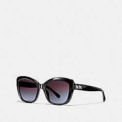COACH HORSE AND CARRIAGE SOFT SQUARE SUNGLASSES - BLACK - L1639