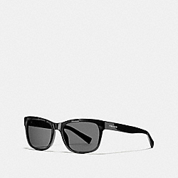 COACH HUDSON RECTANGLE SUNGLASSES - BLACK - L1641