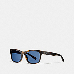 COACH HUDSON RECTANGLE SUNGLASSES - MATTE DARK TORTOISE - L1641