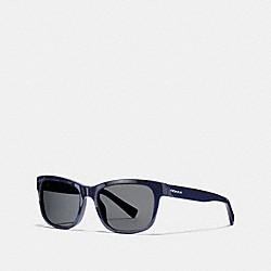 COACH HUDSON RECTANGLE SUNGLASSES - NAVY - L1641