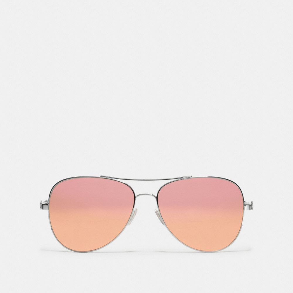 Coach Horse and Carriage Metal Pilot Sunglasses Alternate View 1
