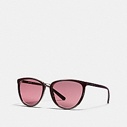 COACH JUNE CAT EYE SUNGLASSES - OXBLOOD - L1661