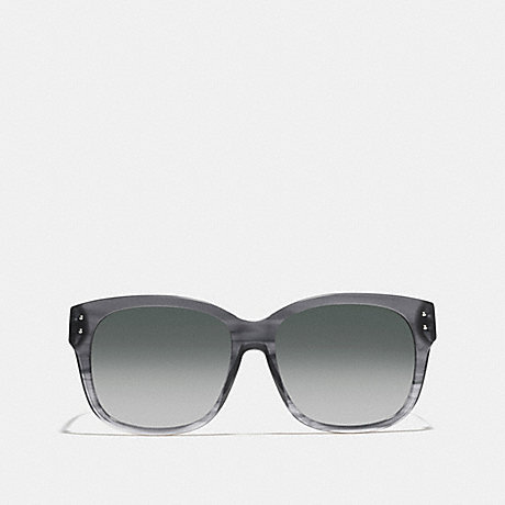 COACH ASIA FIT SIENNA RECTANGLE SUNGLASSES - GRAPHITE HORN - L543