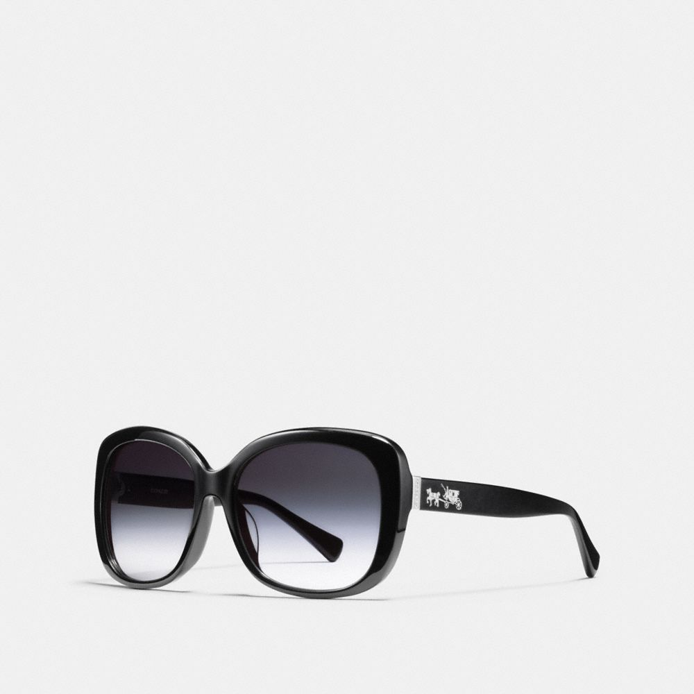 HORSE AND CARRIAGE ASIAN FIT SQUARE SUNGLASSES - Alternate View