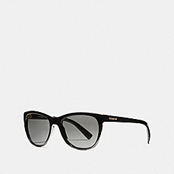 RUBY SQUARE SUNGLASSES - BLACK - COACH L814