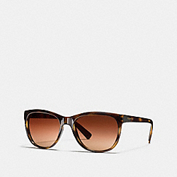 RUBY SQUARE SUNGLASSES - DARK TORTOISE - COACH L814