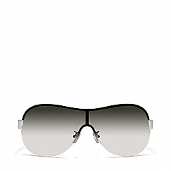 LIANA SUNGLASSES - SILVER/BLACK - COACH L921