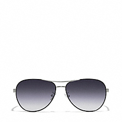 KIERA SUNGLASSES - SILVER/BLACK - COACH L925