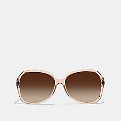 COACH SELMA SUNGLASSES - BROWN CRYSTAL/DARK TORTOISE - L927