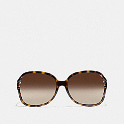 COACH SELMA SUNGLASSES - DARK TORTOISE - L927