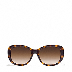 BERNICE SUNGLASSES - DARK TORTOISE/BROWN CRYSTAL - COACH L931