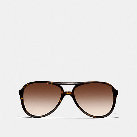 COACH IRMA SUNGLASSES - DARK TORTOISE/GOLD - l933