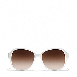BARBARA SUNGLASSES - WHITE/BLACK - COACH L934