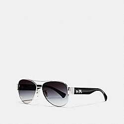 OLIVIA SUNGLASSES - SILVER/BLACK - COACH L944