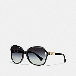 COACH KISSING C SUNGLASSES - BLACK - L948