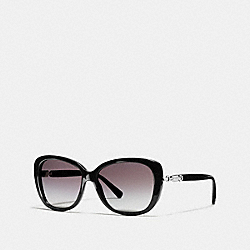COACH HANG TAG CHAIN CAT EYE SUNGLASSES - BLACK - L953