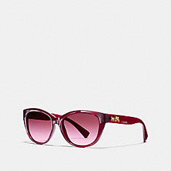 COACH HORSE AND CARRIAGE CAT EYE SUNGLASSES - AUBERGINE - L954