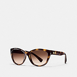 COACH HORSE AND CARRIAGE CAT EYE SUNGLASSES - DARK TORTOISE - L954