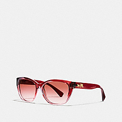 HORSE AND CARRIAGE CAT EYE SUNGLASSES - BERRY PINK GRADIENT/BERRY - COACH L954