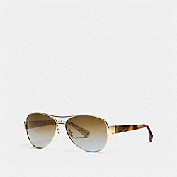 KRISTINA POLARIZED SUNGLASSES - GOLD/TORTOISE - COACH LP012