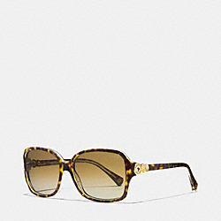 FRANCES POLARIZED SUNGLASSES - TORTOISE/CRYSTAL - COACH LP020