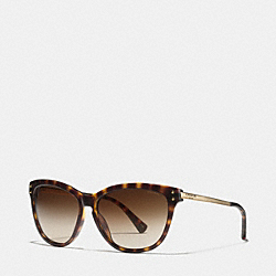CELIA POLARIZED SUNGLASSES - DARK TORTOISE/GOLD - COACH LP072
