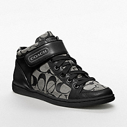 COACH ZOEY - BLACK/WHITE/BLACK TRIM - Q1430