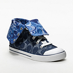 COACH BONNEY SNEAKER - DENIM/IVORY - Q1456