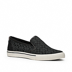 COACH KENNETH SLIP-ON SNEAKER - GRAY BLACK/BLACK - Q1850