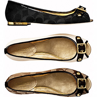 Coach Official Site - LEANA FLATS :  coach shoes flats
