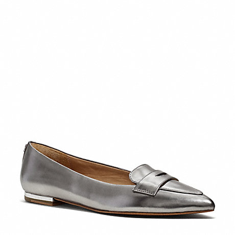 COACH TABITHA FLAT - WARM PEWTER - q3029