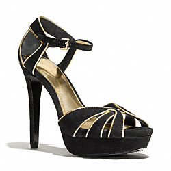COACH DAYLAN HEEL - BLACK/GOLD - Q3162