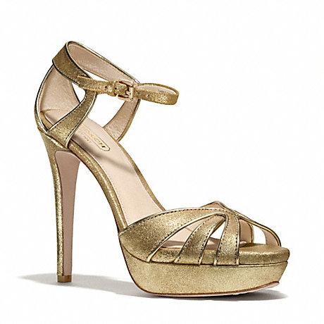 COACH DAYLAN HEEL - GOLD/GOLD - q3162