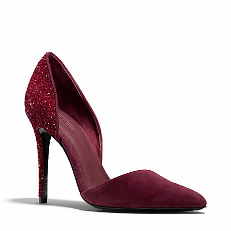COACH HOLLIS HEEL - WINE/WINE - q3182