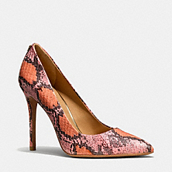 COACH HARLEE HEEL - ORANGE PINK - Q3217