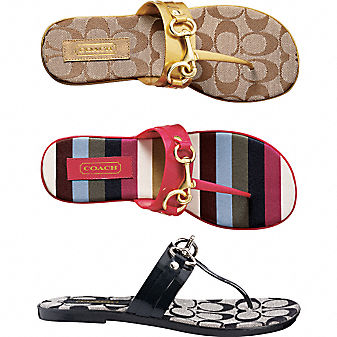 Coach Official Site - RIKKI SANDAL :  chic bags metallic summer