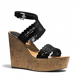 COACH GENA WEDGE - BLACK - Q3605