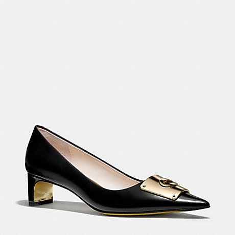 COACH LAWRENCE HEEL - BLACK - q4012