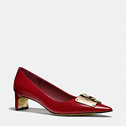 COACH LAWRENCE HEEL - ROUGE - Q4012